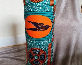 Tall African Print Floor Lamp