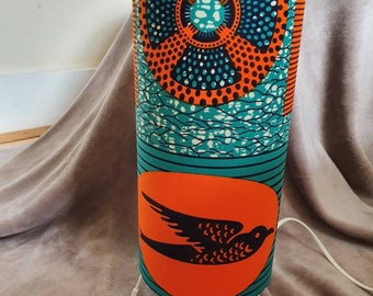 African Print Table Lamp