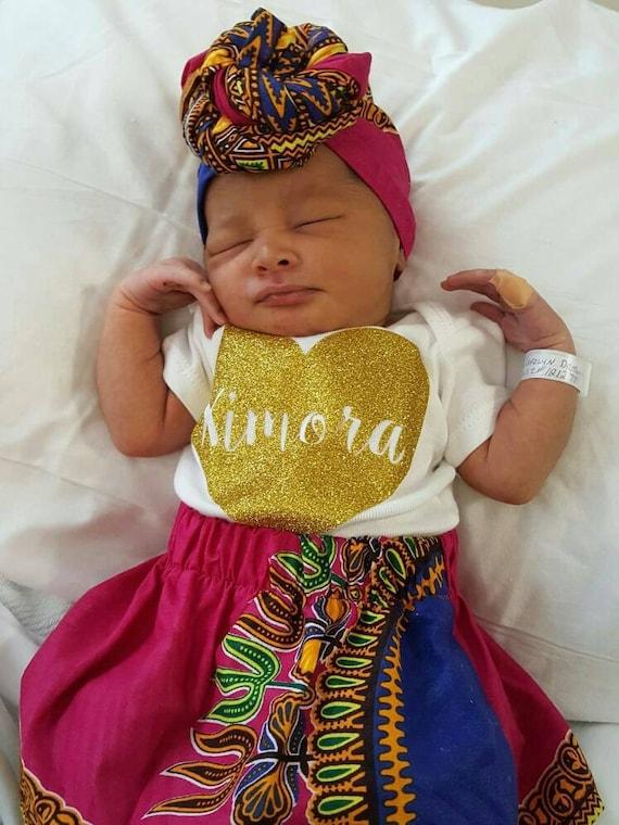 b b fille jupe turban assorti nouveau n 3 ans africain. Black Bedroom Furniture Sets. Home Design Ideas