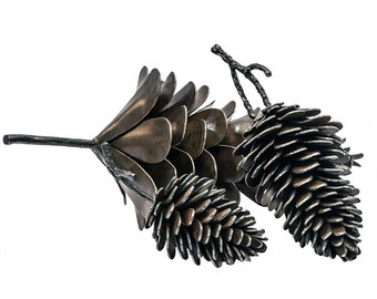 Pinecone Metal Art