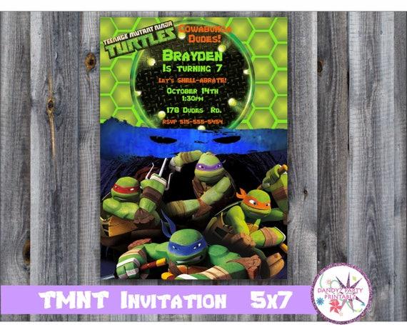 Teenage Mutant Ninja Turtles Printable Invitation