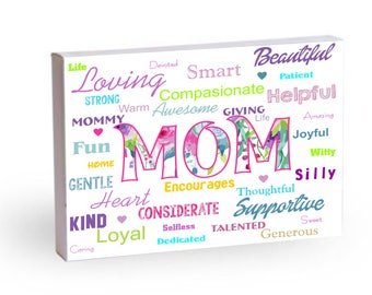 Mom means a lot to me Printable Art/Poster