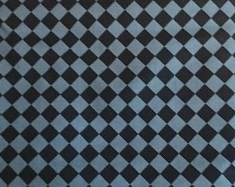 "tiles grey and black, 100% cotton, unisex fabric, 1 m (39 "")"
