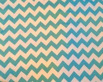 Jersey knit, blue and white herringbone