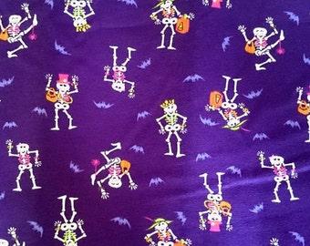 Jersey knit, skeleton, Halloween, lycra, cotton lycra, spandex