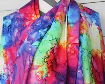 RETAIL Rainbow Smoke Fabric   Cotton Lycra   in stock, ready to ship, super soft, custom fabric