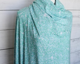 Mint Faux Glitter Double Brushed Poly