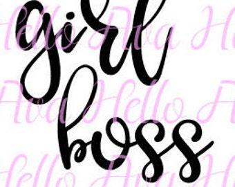 Girl Boss Monat SVG Files, Monat vector files, monat dxf, monat cut files, girl boss dxf, girl boss svg