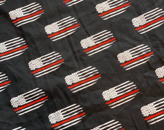 Exclusive Red Line Fabric | Cotton Woven | Quilting Cotton | Mask Making Fabric |
