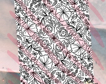 May Flowers Coloring Page | Digital Download | Printable Coloring Page | Adult Coloring | Kid Coloring