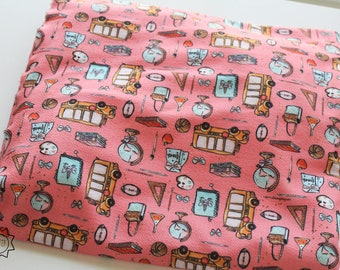 Pink Back To School Unicorn Book School Bus | Liverpool Fabric | in stock, ready to ship, custom fabric, 2 way stretch Bullet