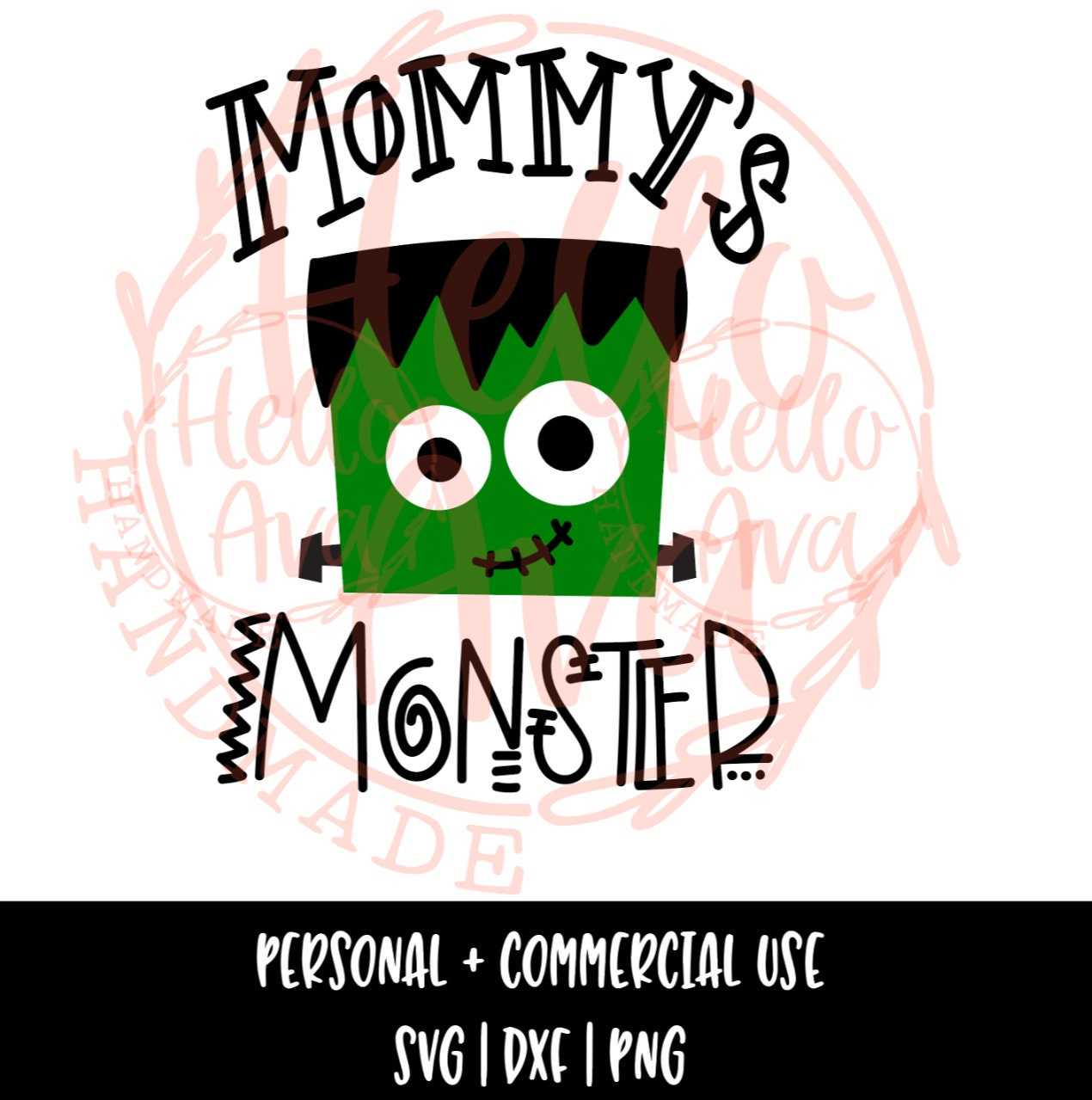 Mommy S Monster Frankenstein Svg File Vector Cut File Etsy