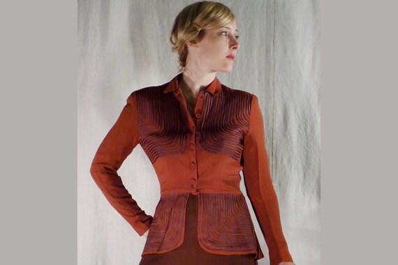 1940's Vintage Jacket / 40's Jacket / Rust Color 4