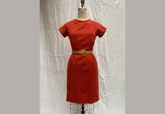 Vintage 60's Mini Dress / 1960's Wool Mini Dress