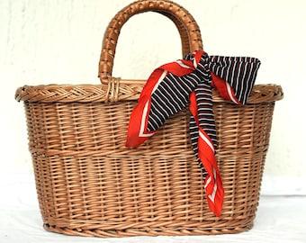 Woven Wicker Purse, Wicker Bag, Handwoven Willow Handbag, Small Wicker Bag, Willow Purse, Small Basket Purse Basket Bag, Basket Tote