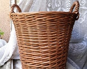 Small Storage Basket with Handles, Pantry Storage Basket, Round Wicker Basket, Onion Basket, Plant Pot Basket, Wicker Toy Storage Basket