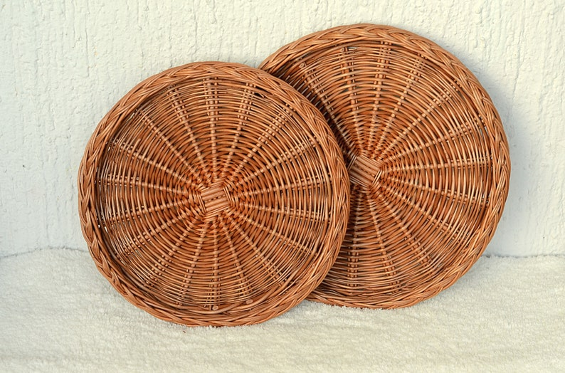 Wicker Plate Charger Wicker Wall Hanging Wicker Pizza Plate Woven Pizza Basket Tray Woven Wicker Charger Natural Wicker Pizza Charger