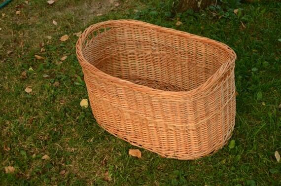 Large Storage Basket Oval Storage Wicker Basket Log Basket | Etsy