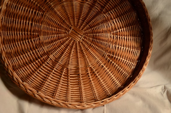 Remarkable Large Round Wicker Tray Rustic Ottoman Basket Tray Large Round Tray Servig Basket Tray Rustic Round Tray Large Wicker Tray Wall Basket Ibusinesslaw Wood Chair Design Ideas Ibusinesslaworg