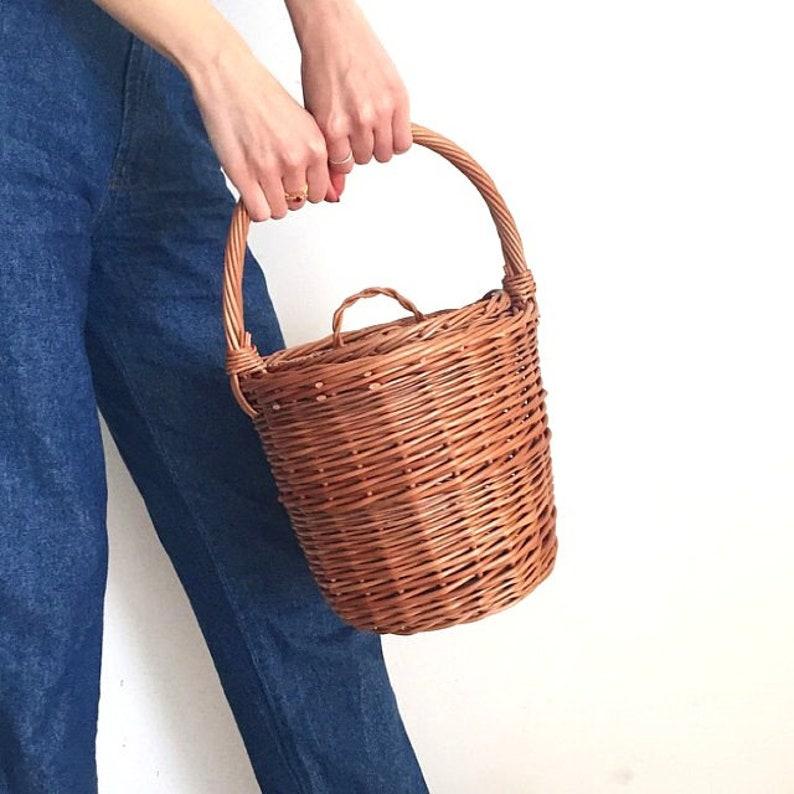 a2ea75d510 Jane Birkin Basket Birkin Basket M Round Wicker Basket with