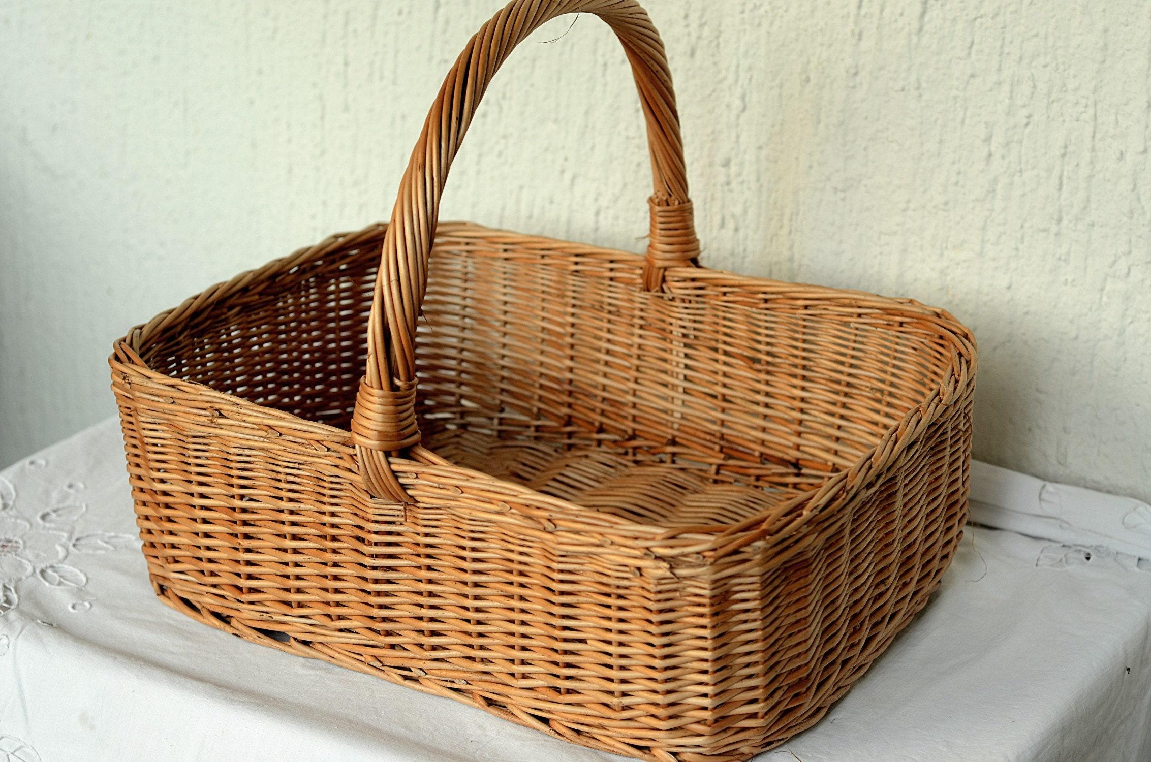 Large Rectangular Wicker Basket Display Basket Large Gift | Etsy