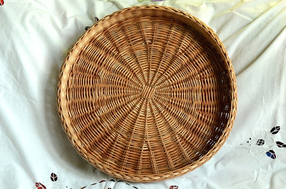 Astounding Large Round Wicker Tray Rustic Ottoman Basket Tray Large Round Tray Servig Basket Tray Rustic Round Tray Large Wicker Tray Wall Basket Ibusinesslaw Wood Chair Design Ideas Ibusinesslaworg