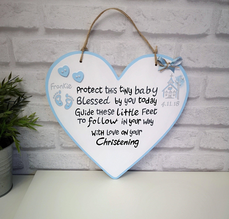 On your Christening Personalised Gift Angel Boy Girl Keepsake Name Decoration