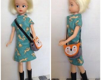 1960s inspired dress for Sindy, Barbie, Tressy, Tammy doll