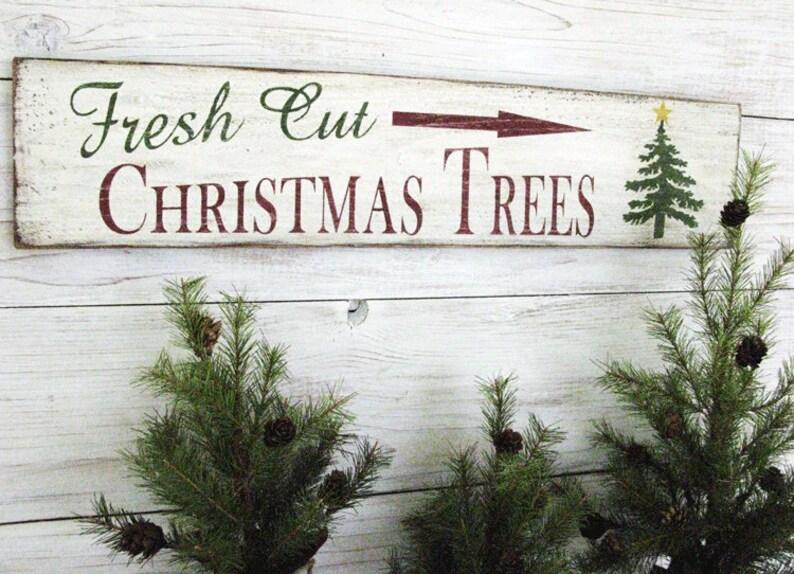 Christmas Tree Farm Sign Christmas On The Farm Christmas Etsy