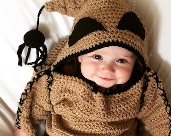 DIGITAL PATTERN ONLY, Oogie Boogie Monster Costume Pattern, Infant Halloween Costume Pattern, Crochet Pattern
