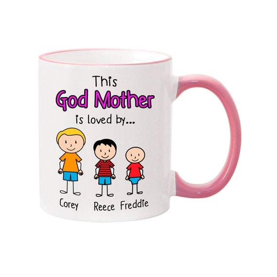 PERSONALISED WONDERFUL MUMMY NAN GODMOTHER MUG COASTER BIRTHDAY MOTHERS DAY GIFT