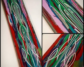 Hand Painted Pinstriped Art