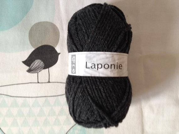 WOOL LAPLAND Anthracite - white horse