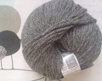 WOOL QUITO anthracite - white horse