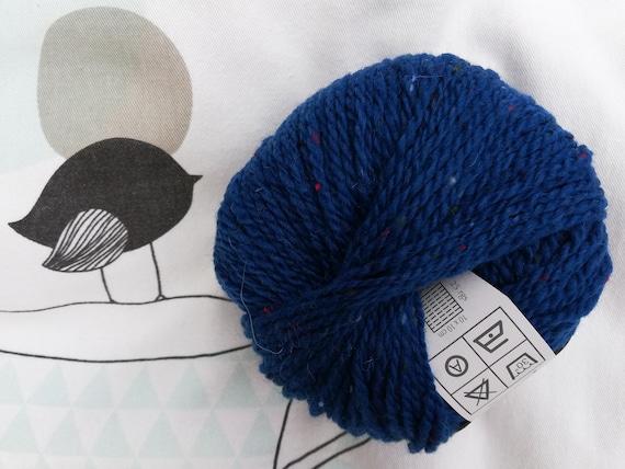 SUPER electric - Fonty blue TWEED wool