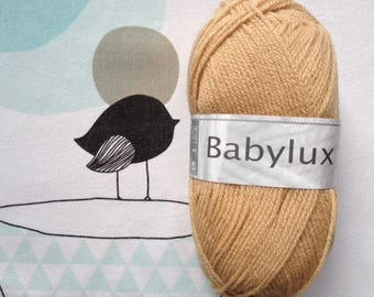 WOOL BABYLUX taupe - white horse