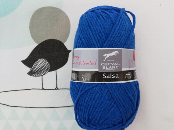 WOOL SALSA Nattier - white horse