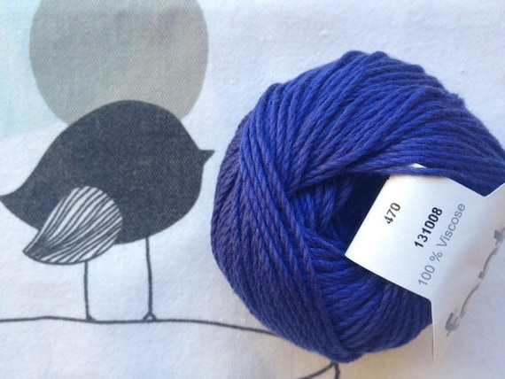 Methylene blue bamboo yarn - wool Fonty