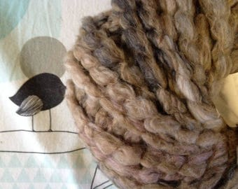 WOOL FLEECE taupe - white horse