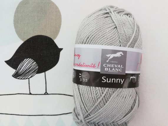 WOOL SUNNY Pearl - White Horse