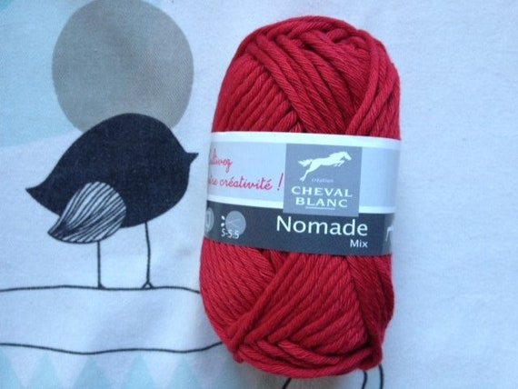 WOOL Mix poppy - white horse Nomad