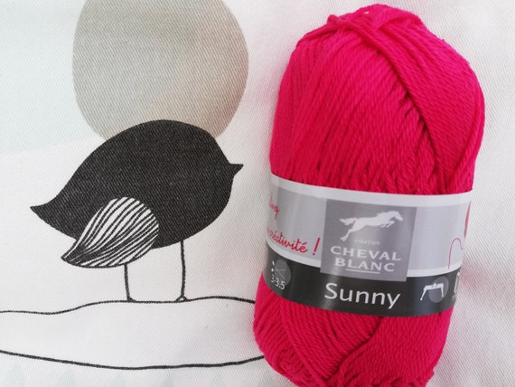 WOOL SUNNY Mulberry - white horse
