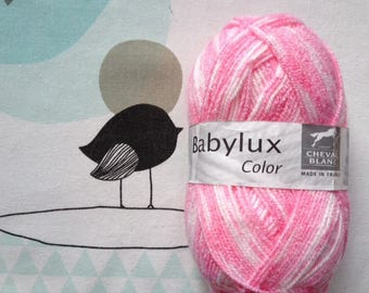 WOOL BABYLUX COLOR Hawthorn - white horse