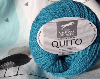 WOOL QUITO turquoise - white horse