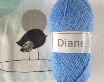 WOOL DIANE cornflower blue - white horse