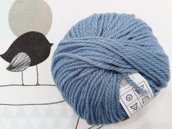 NUMBER 5 blue-azure Fonty wool