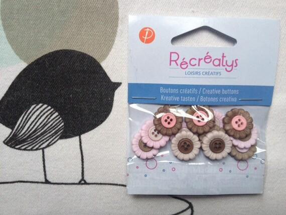 Harmony - Recreatys flower plastic buttons