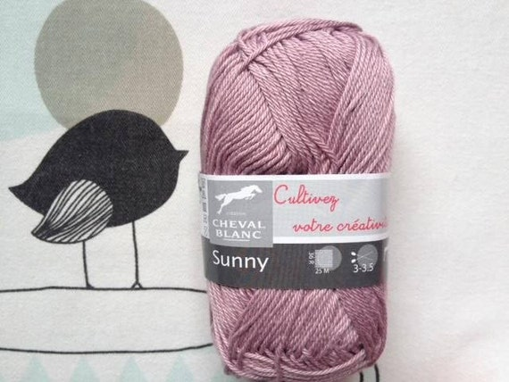 WOOL SUNNY vintage pink - white horse