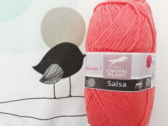 WOOL SALSA grapefruit - White horse