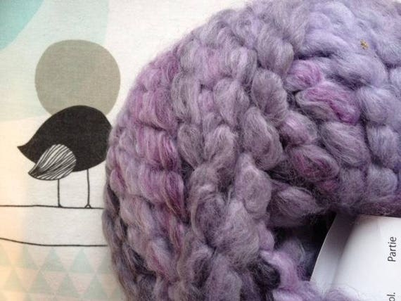 Lavender - white horse FLEECE wool